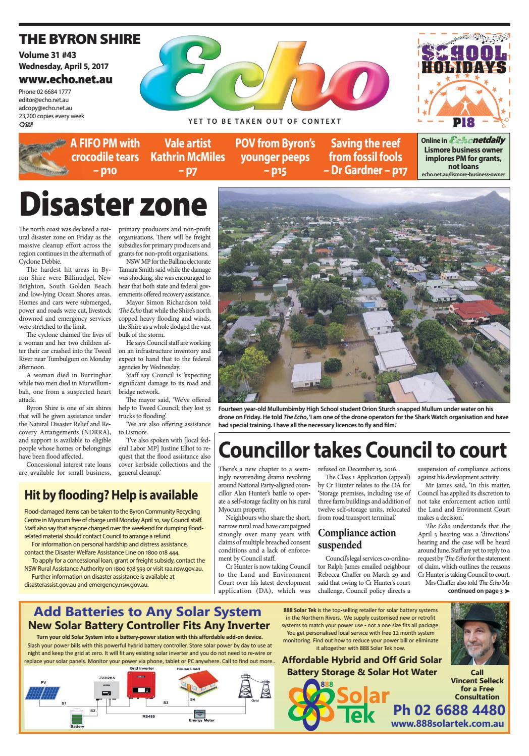 03c9d697573 Byron Shire Echo – Issue 31.43 – 05 04 2017 by Echo Publications - issuu