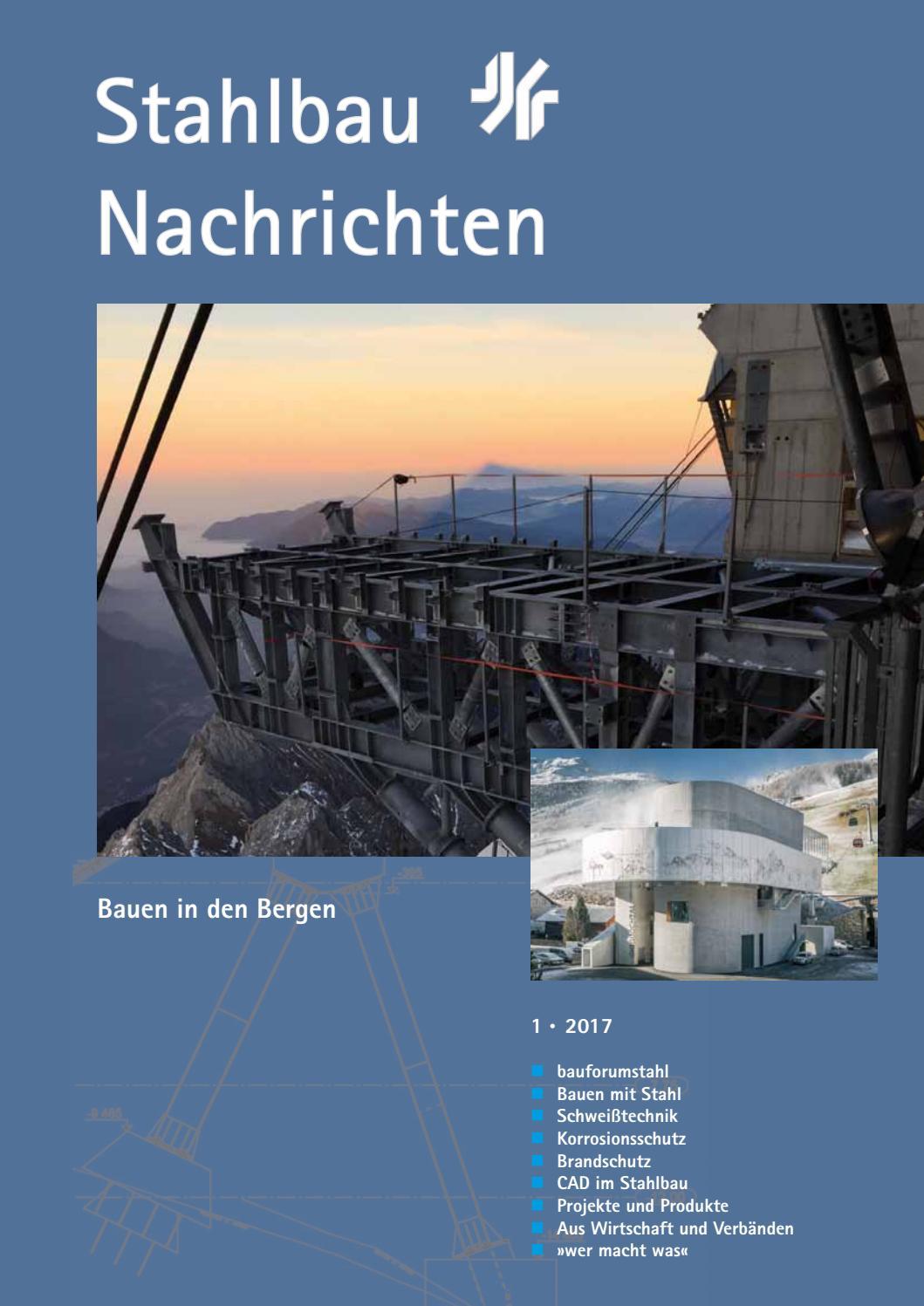 Stahlbau Nachrichten 1/2017 by Verlagsgruppe Wiederspahn - issuu