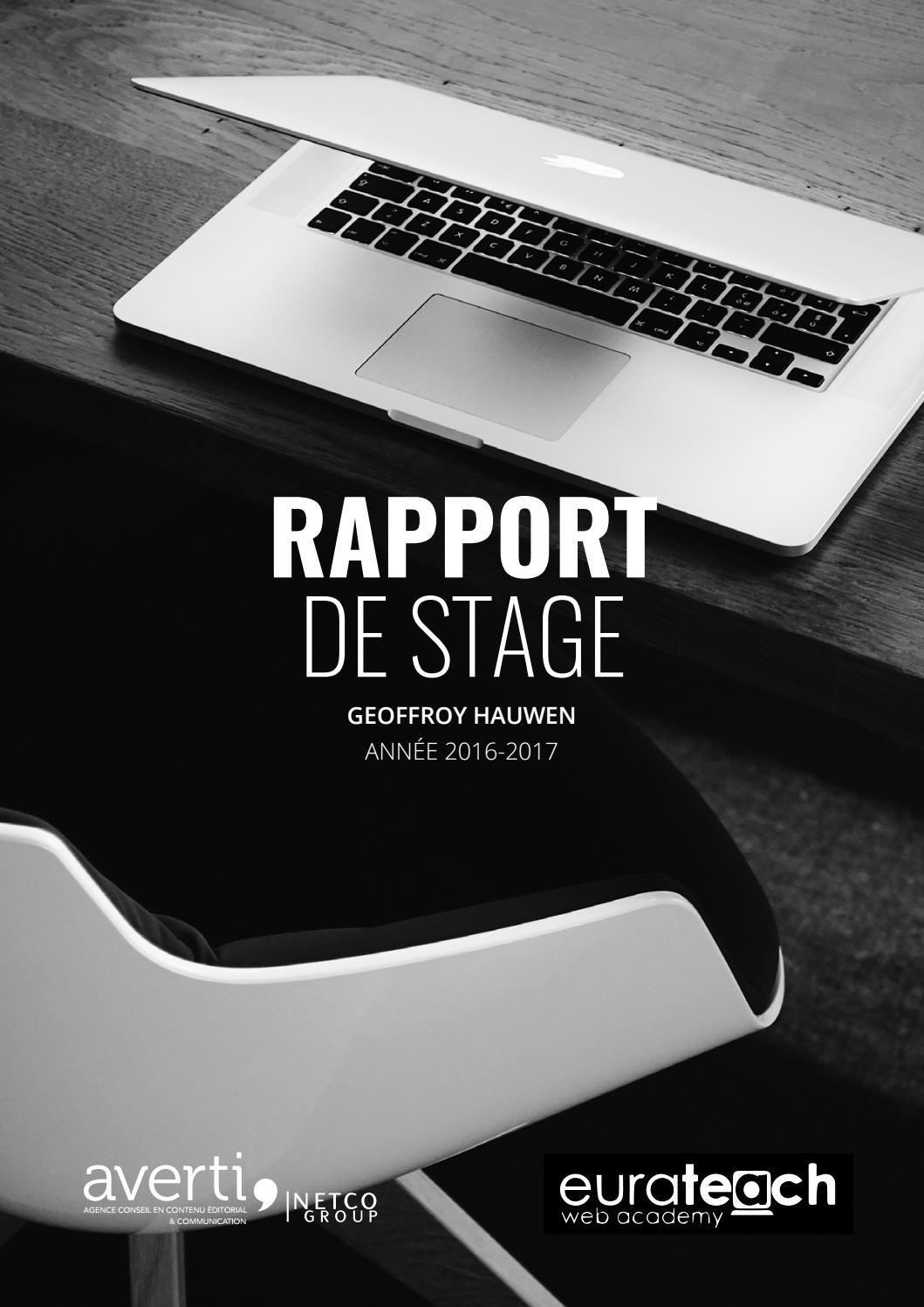 Agence De Communication Roubaix rapport de stage - agence avertigeoffroy hauwen - issuu