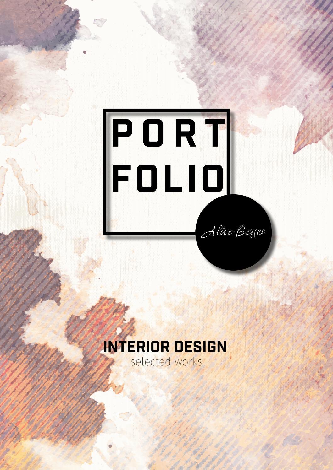 Portfolio interior design by alice beyer issuu for Interior design praktikum
