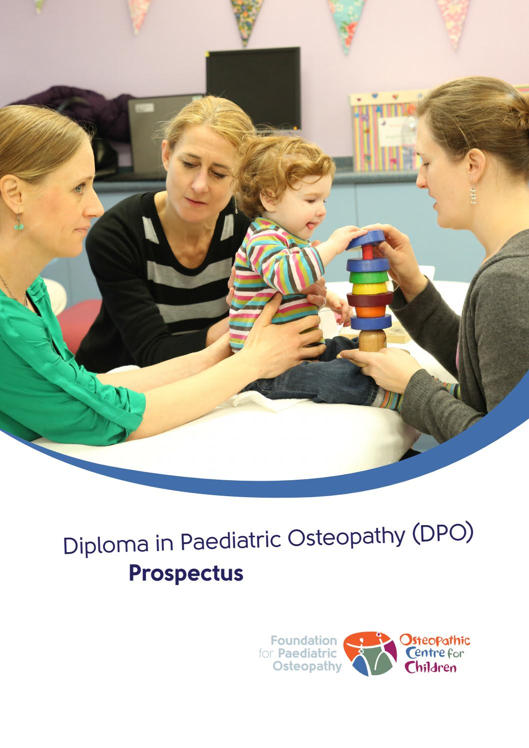 Diploma in Paediatric Osteopathy (DPO) Prospectus by Mascot