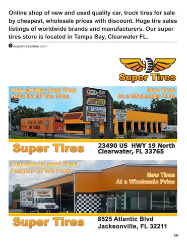 Used Tires Tampa >> Supertiresonline Com Online Shop Of New And Used Quality Car