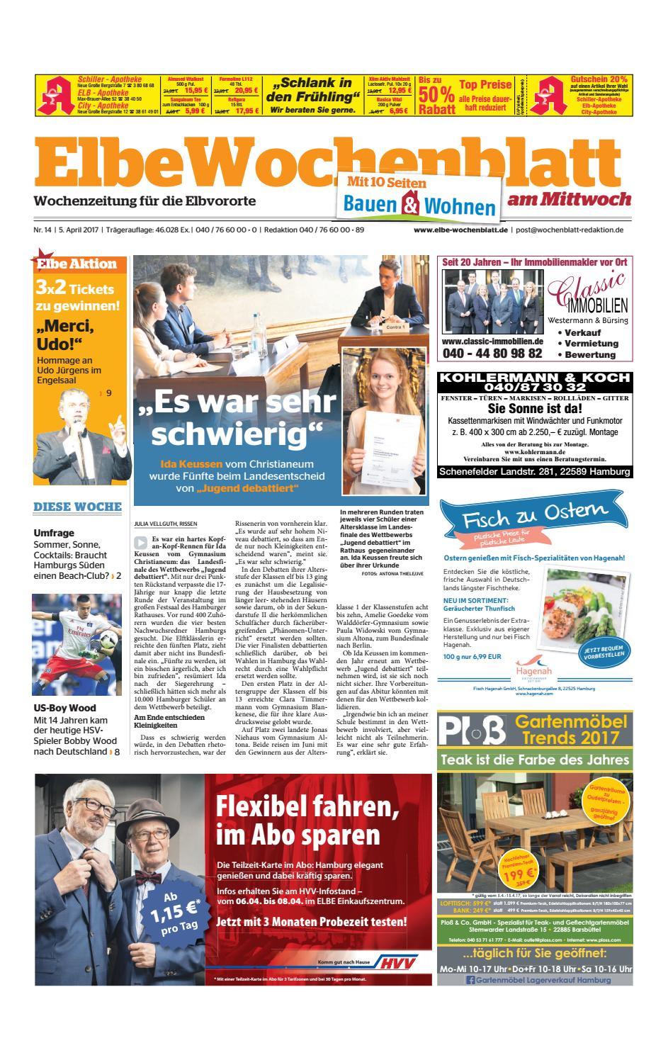 Elbvororte KW14 2017 by Elbe Wochenblatt Verlagsgesellschaft