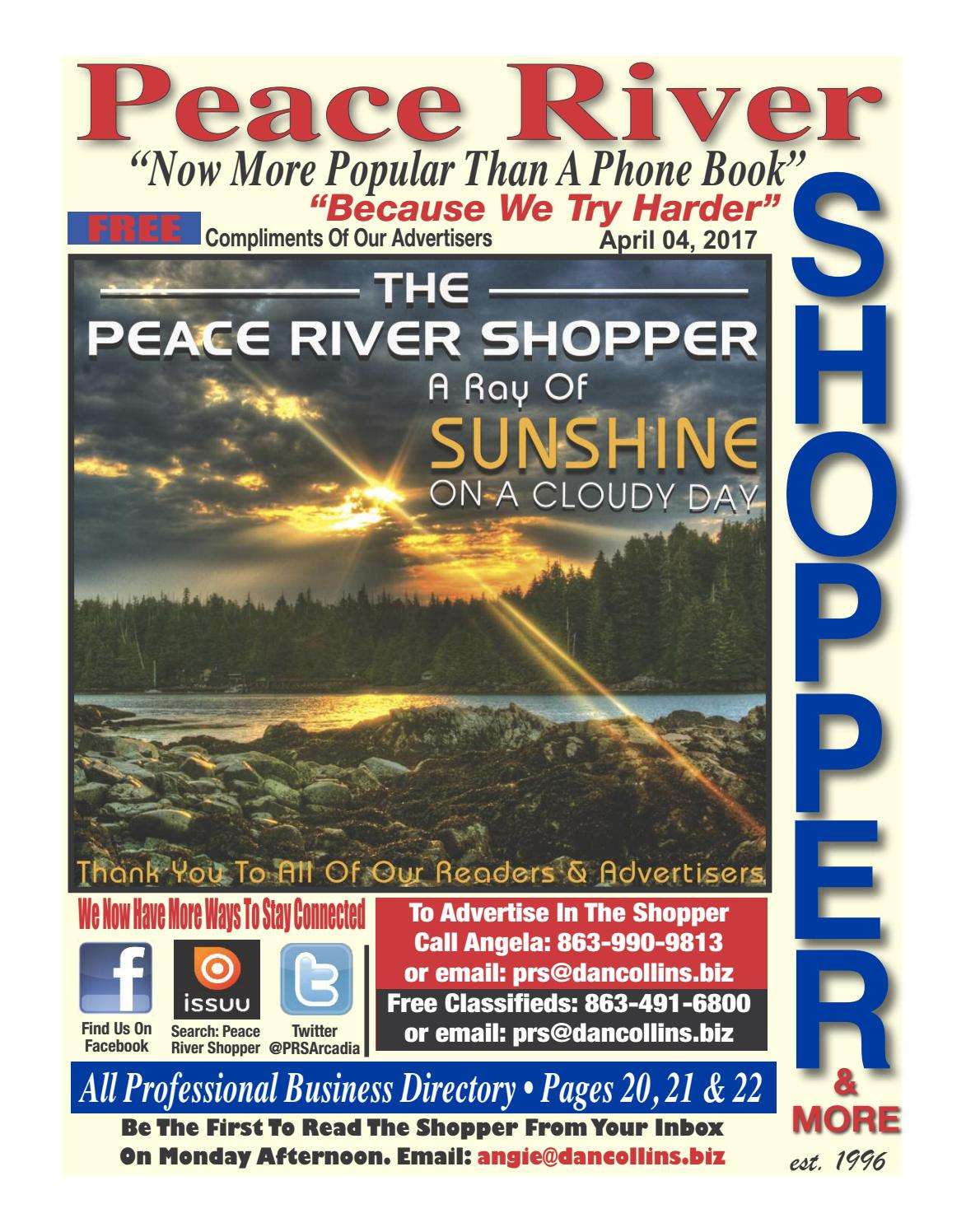 April 4th 2017 Peace River Shopper By Issuu Name Card Holder Binder 6222