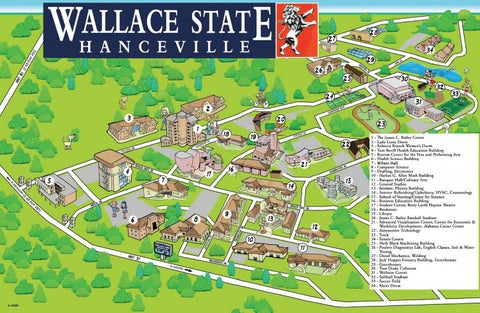 Campus Map 2016 By Wallace State Community College Issuu