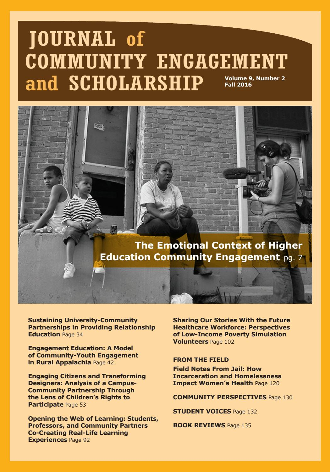 Journal of Community Engagement and Scholarship | Vol  9, No