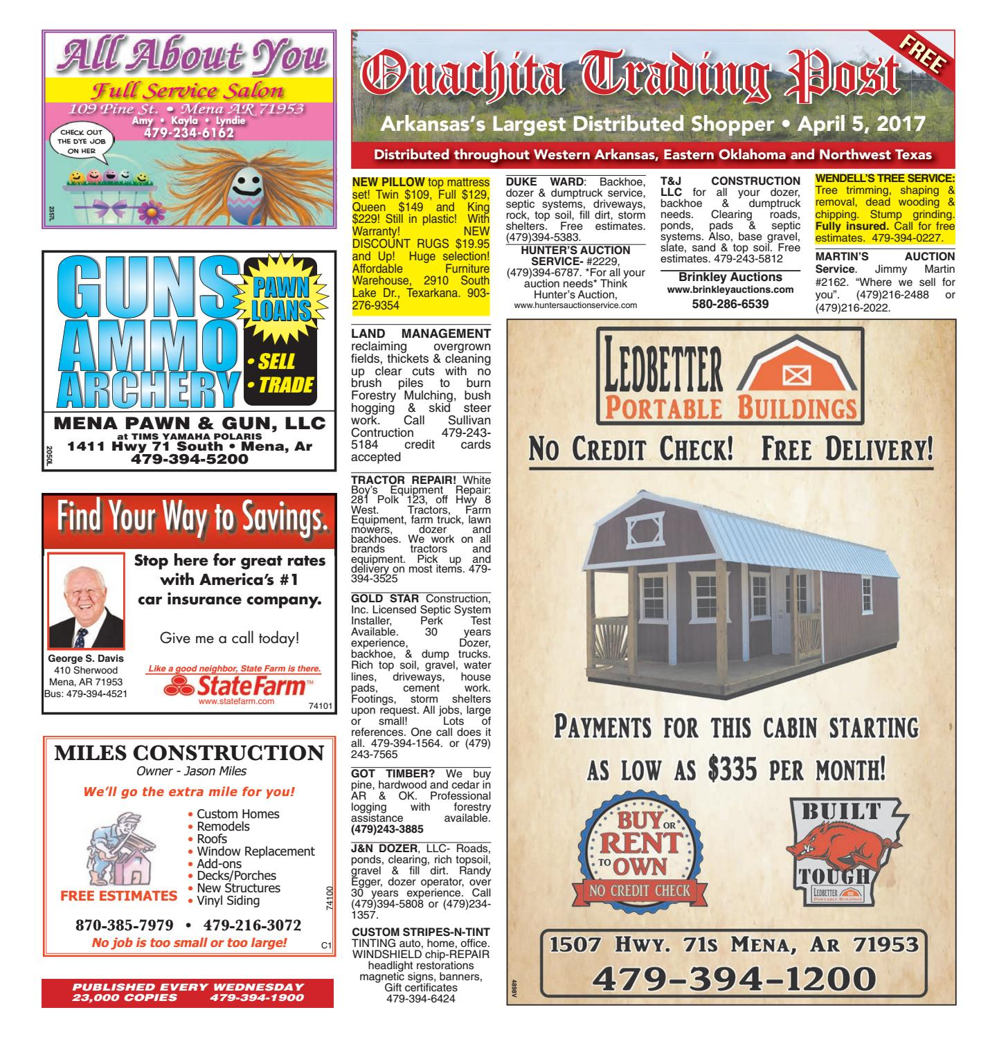 Ouachita trading post april 5 2017 by mena newspapers for Affordable furniture warehouse texarkana