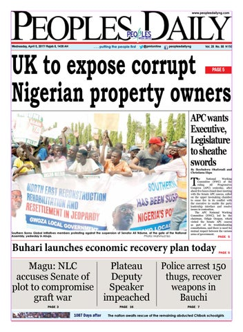 Wednesday April 5 2017 Edition By Peoples Media Limited Issuu