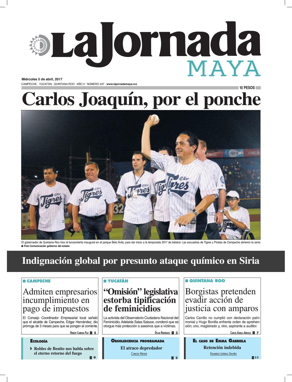 La Jornada Maya · Miércoles 5 de abril, 2017 by La Jornada Maya - issuu