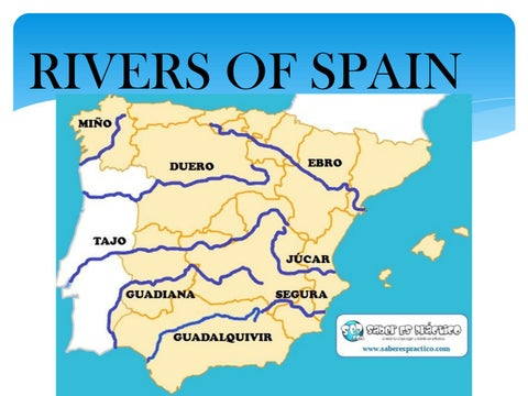 Map Of Spain Ebro River.Rivers Of Spain By Lauracgteacher Issuu