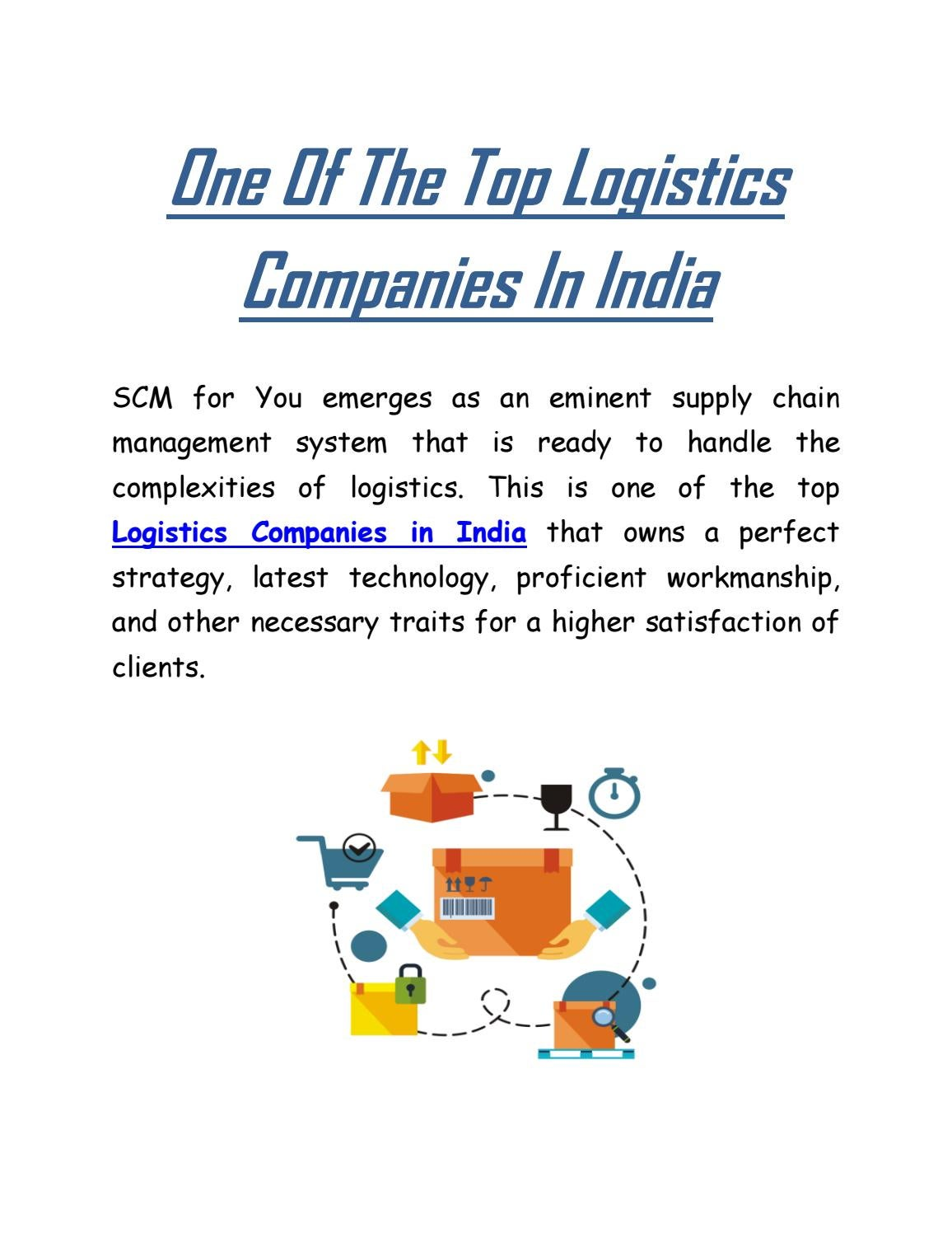 One Of The Top Logistics Companies In India by SCM FOR YOU