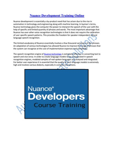 Grow your Career in Nuance Development Technology by Aurelius