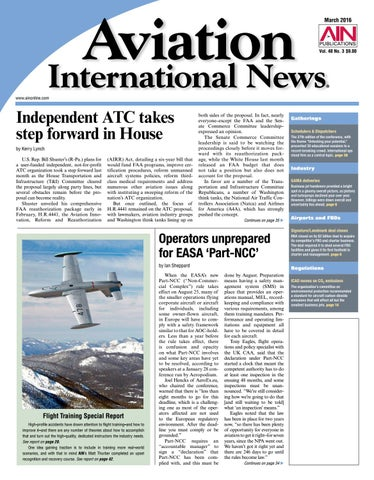 Aviation International News March 2016 by Aviation