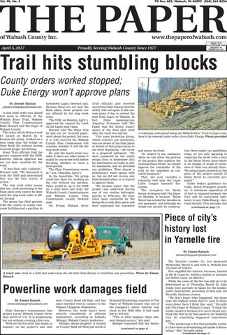 The Paper Of Wabash County April 5 2017 Issue By The Paper Of