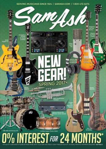 SPRING 2017 Sam Ash GearGuide by Sam Ash Music Corp  - issuu