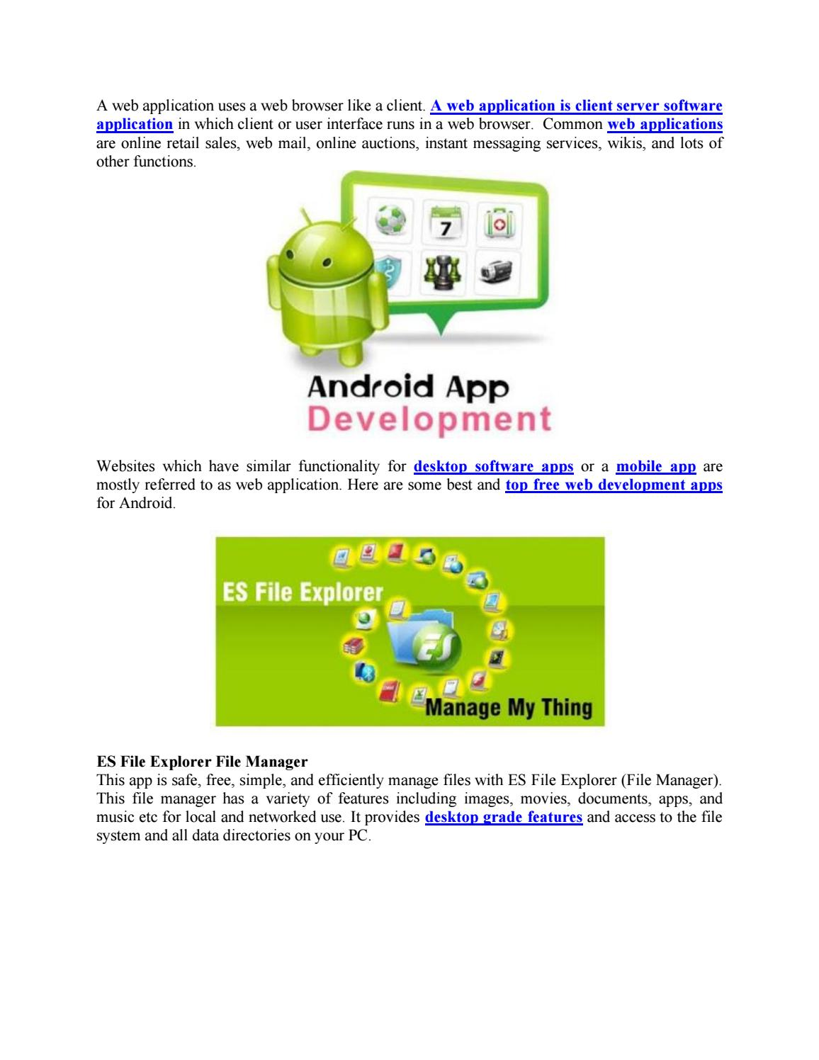 Top Web Development Applications for Android by Solutions