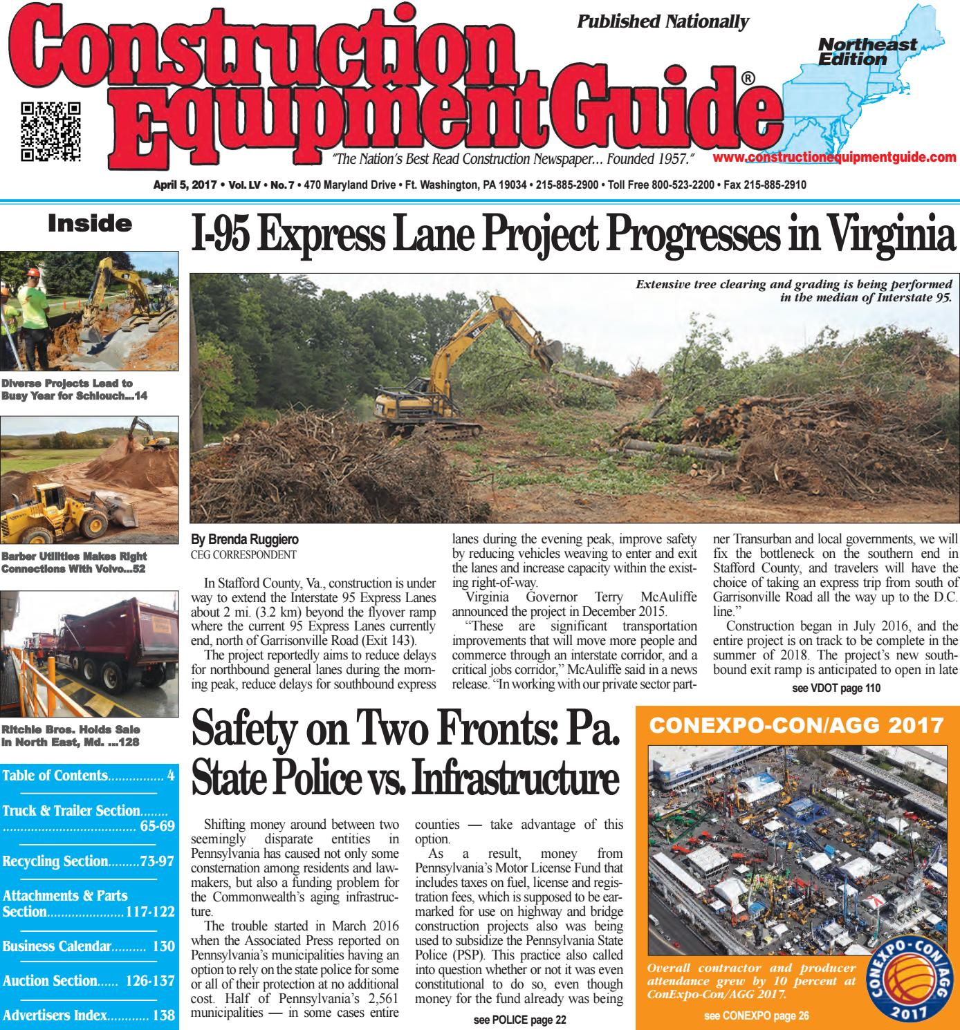 Northeast 7 April 5, 2017 by Construction Equipment Guide