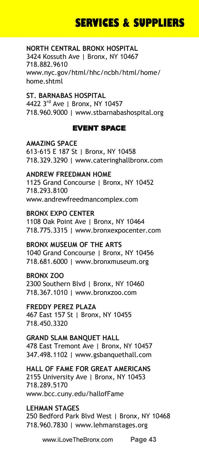 2017/18 Bronx Visitors Guide by The Bronx Tourism Council