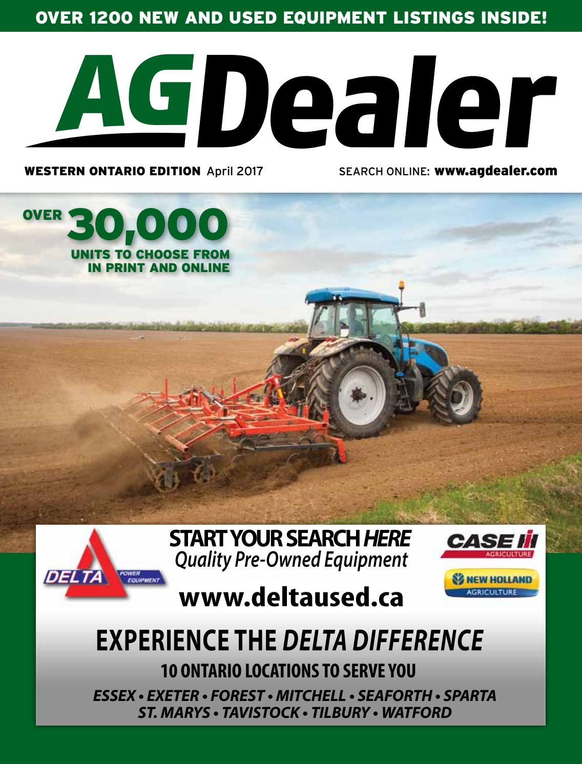 AGDealer Western Ontario Edition, April 2017 by Farm Business  Communications - issuu