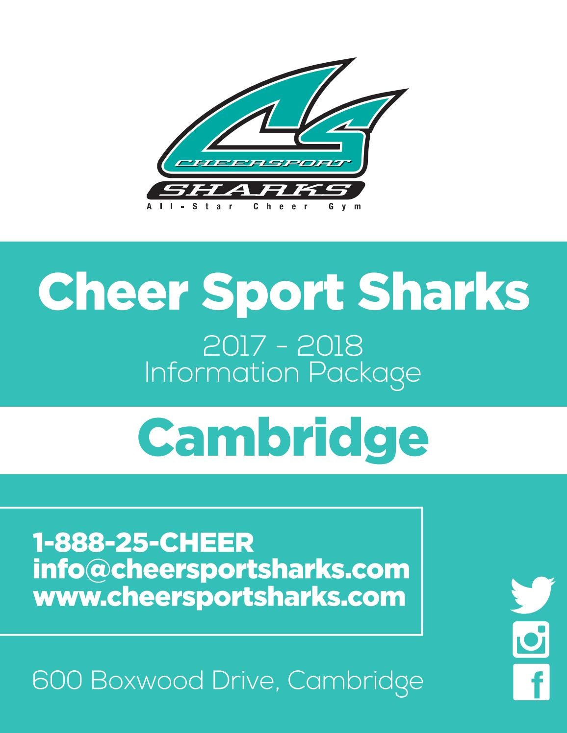 Cheer Sport Sharks - Cambridge Information Package by Cheer Sport ...