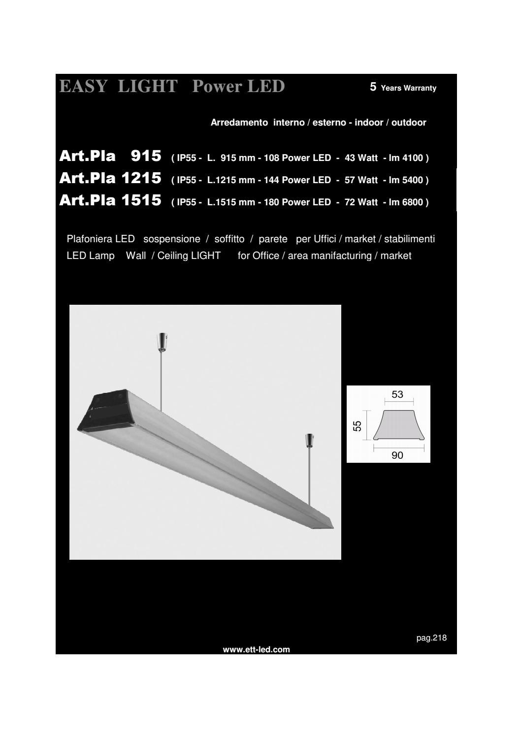 Plafoniera Led Ip55.Catalogo E T T 2017 By Ett Issuu