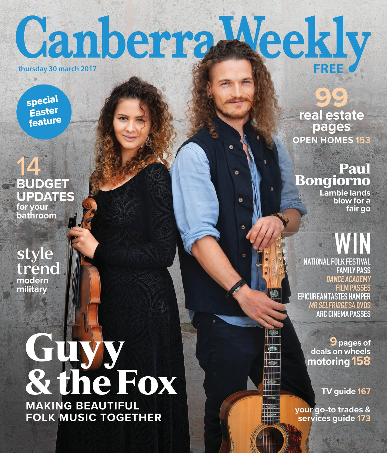 93c42e211c 30 March 2017 by Canberra Weekly Magazine - issuu