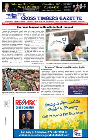 d7afef002 The Cross Timbers Gazette November 2016 - The Cross Timbers Gazette
