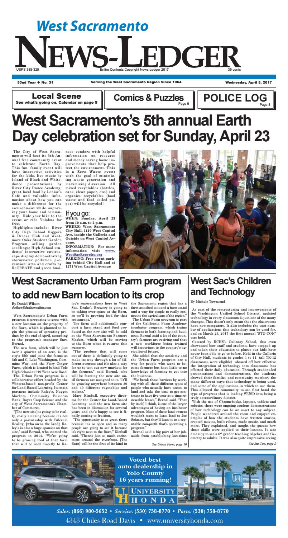 West sacramento news ledger april 5 2017 by west sacramento news ledger issuu for Sacramento home and garden show 2017