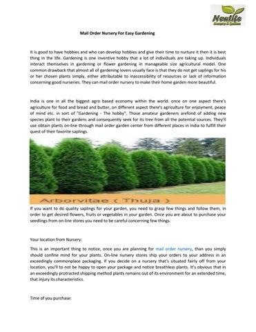 Mail Order Nursery For Easy Gardening By Newlifenursery1 Issuu