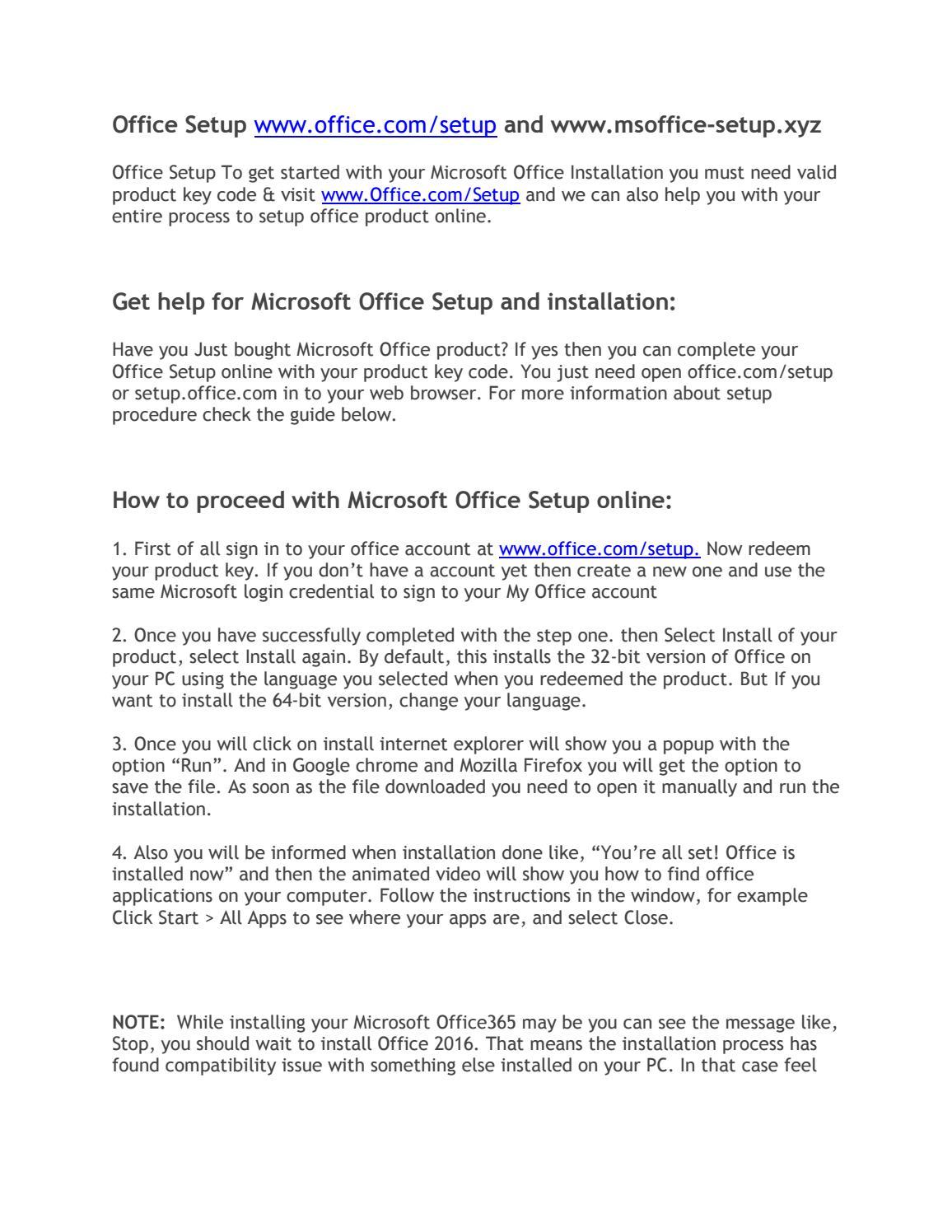 WWW OFFICE COM/SETUP | 1-855-441-4419 by msoffice-setup xyz