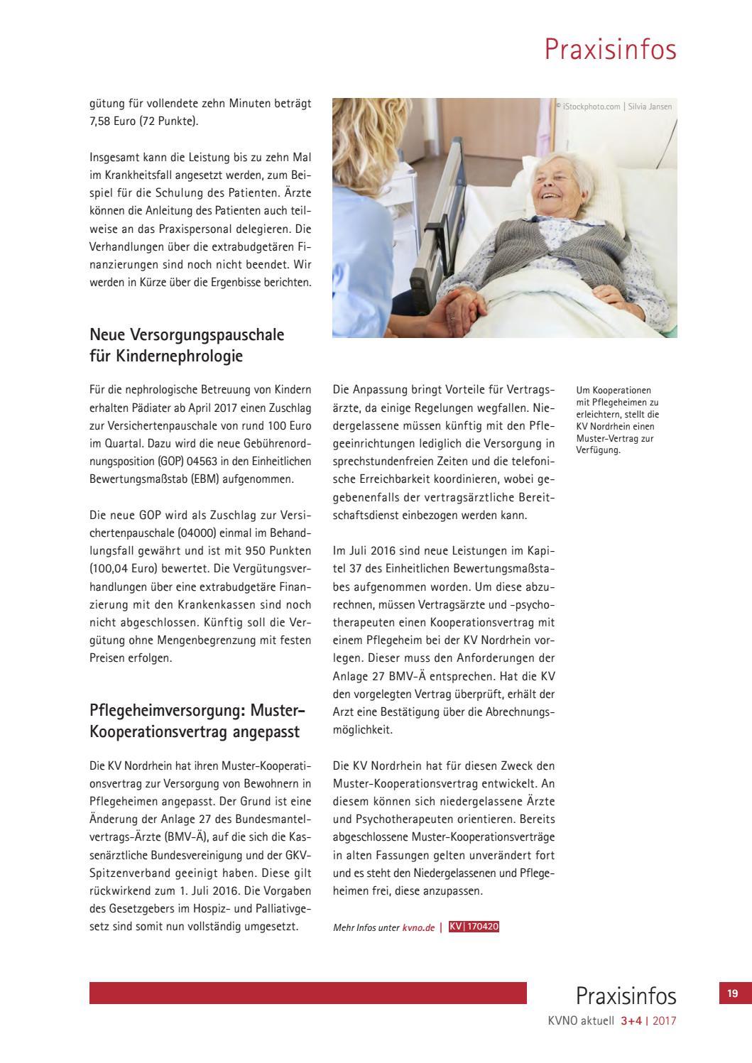 kvno aktuell 34 2017 by kv nordrhein issuu - Muster Kooperationsvertrag