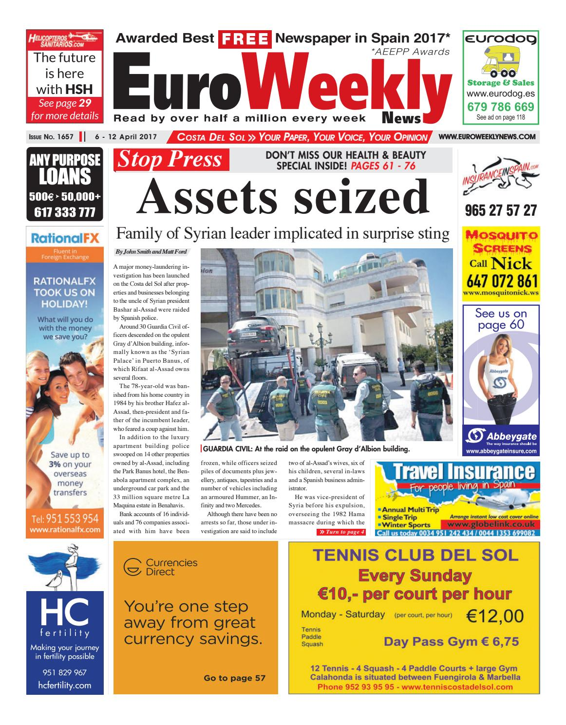 c11ee1b6cb7e Euro Weekly News - Costa del Sol 6 - 12 April 2017 Issue 1657 by Euro  Weekly News Media S.A. - issuu