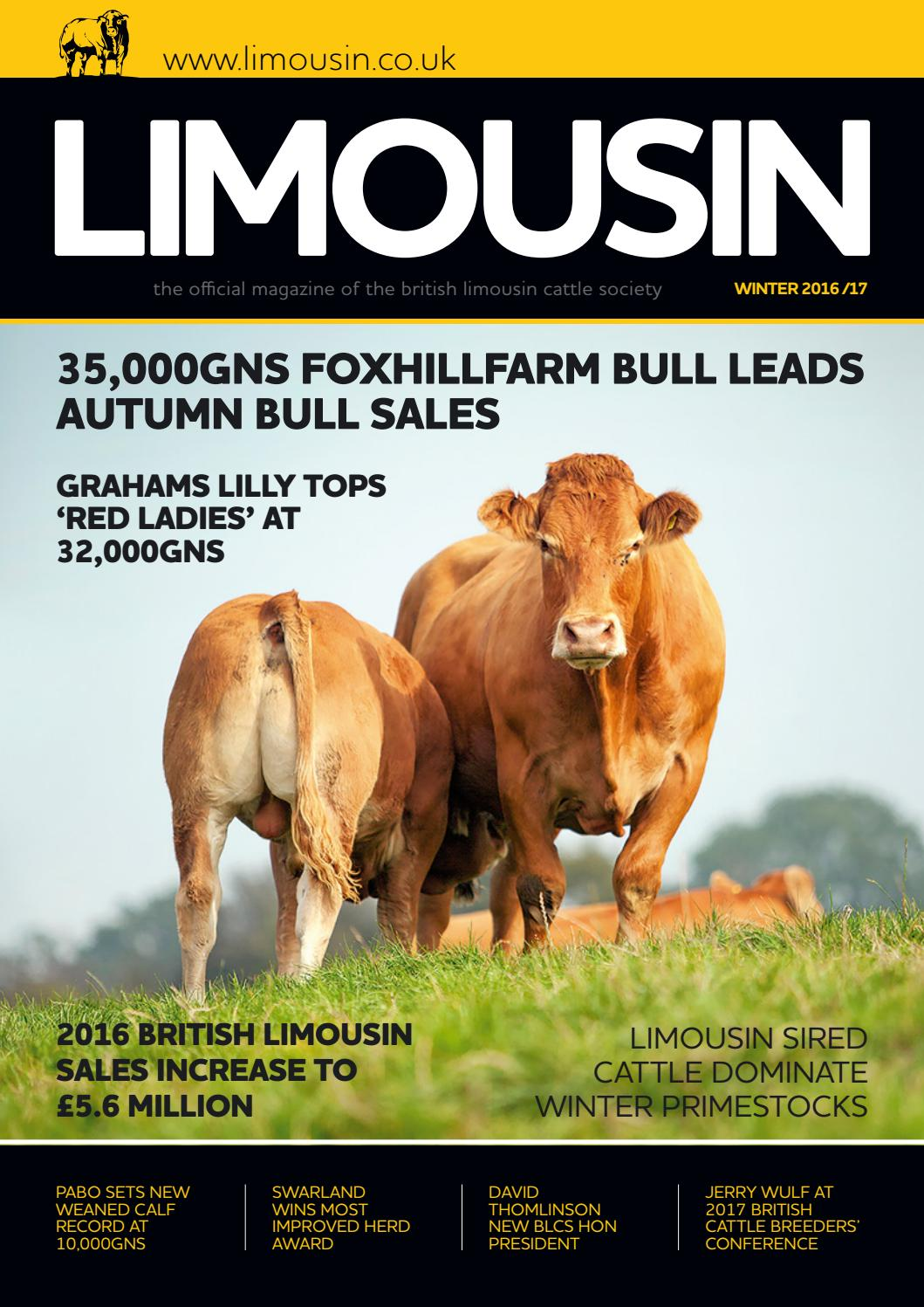 BLCS Winter 2016 Magazine by British Limousin Cattle Society - issuu