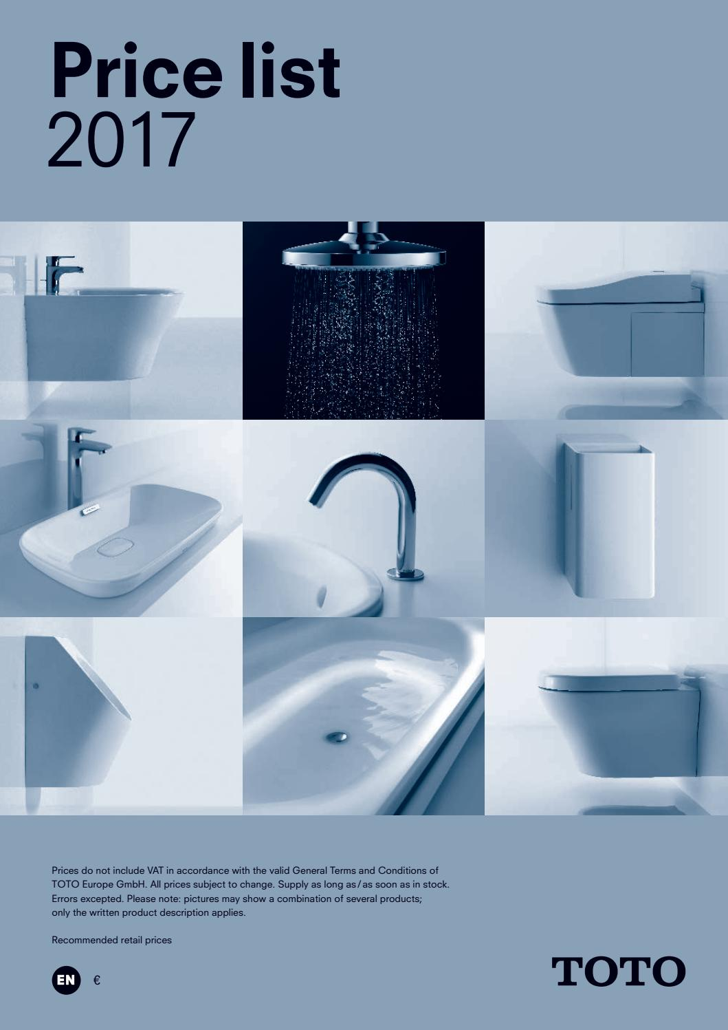 Toto Price list 2017 by Jonas Mayer - issuu