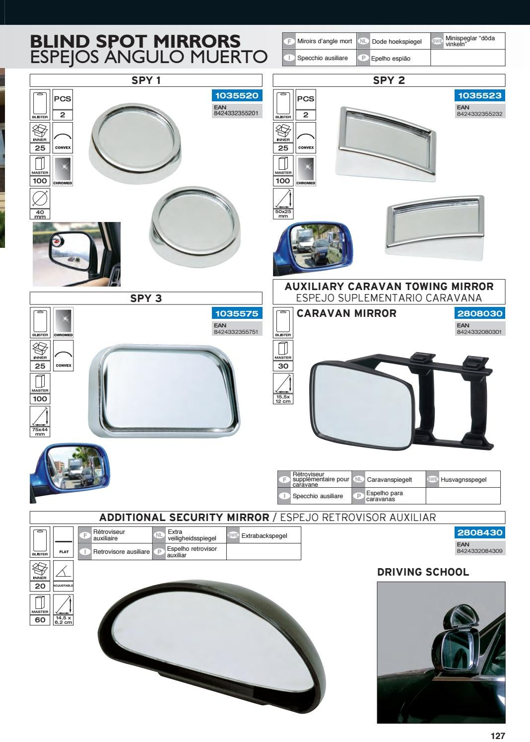 Sumex 2808030 Caravan Auxiliary Mirror