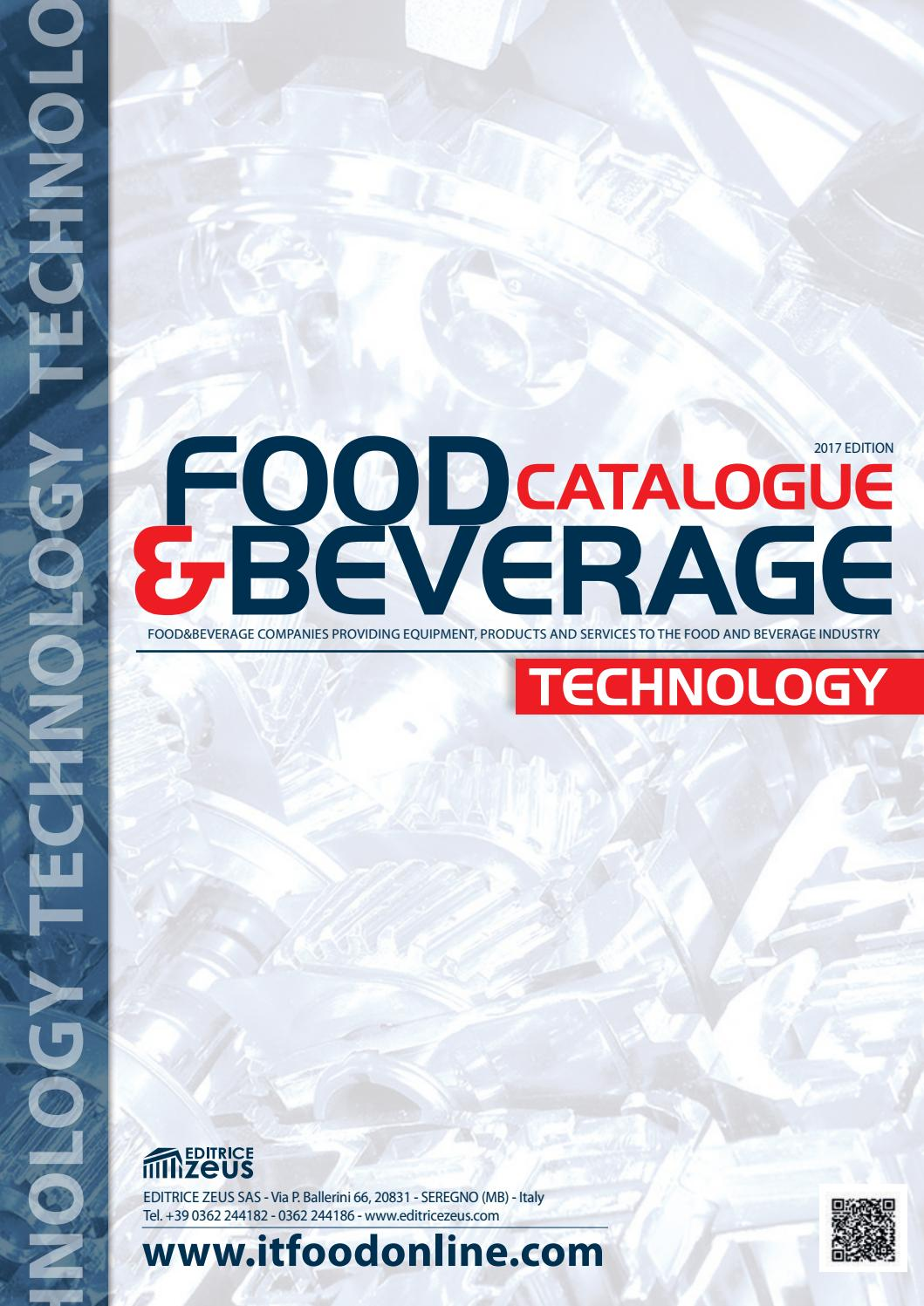Food Beverage Technology Catalogue 2017 Edition By Editrice Zeus