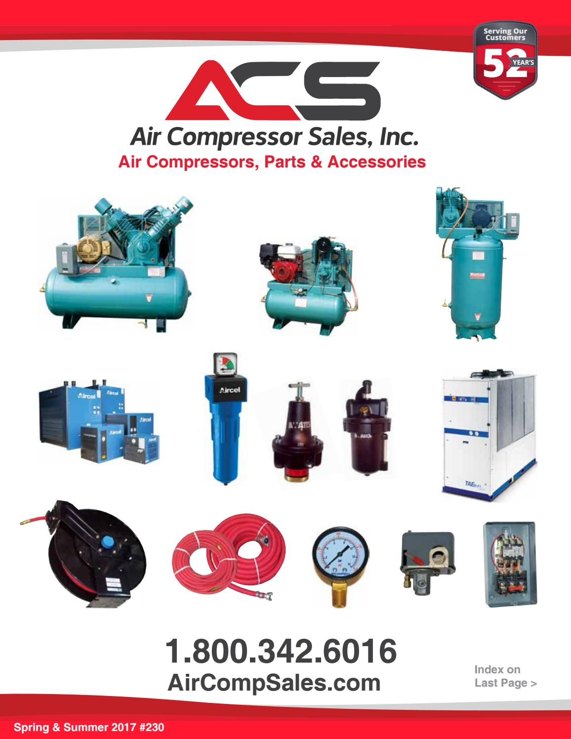 Aircomparts Catalog Spring 2017 By Air Compressor Sales