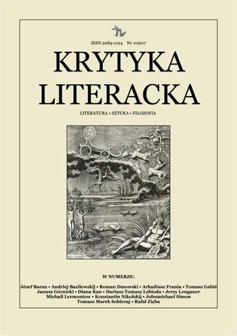 Krytyka Literacka Wiosna 2017 By Krytyka Literacka Issuu