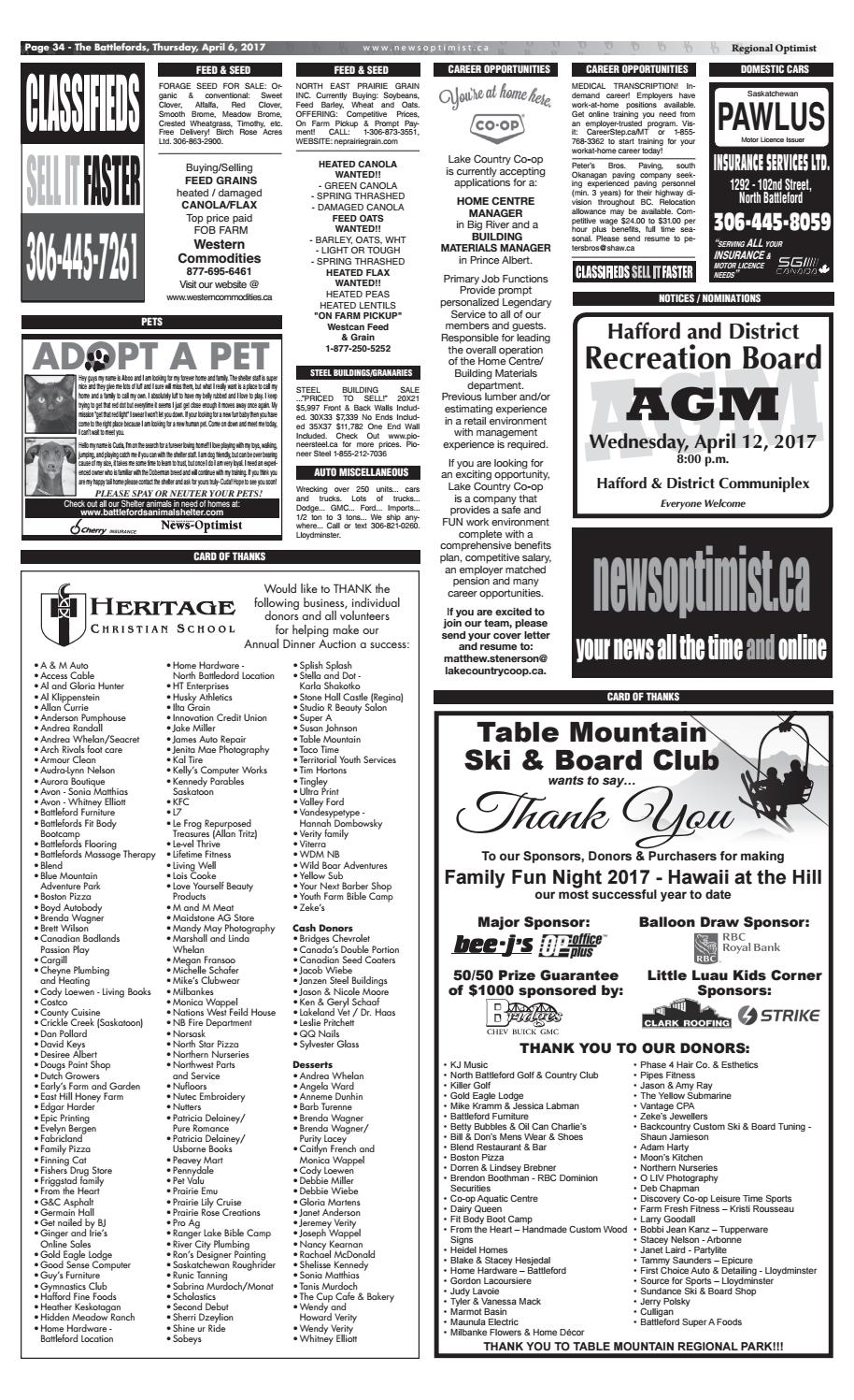 Classifieds by Battlefords News Optimist - issuu