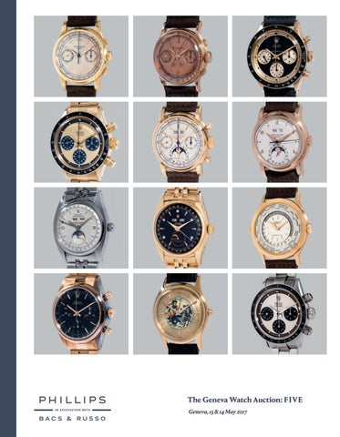 c4b6952371f The Geneva Watch Auction  FIVE  Catalogue  by PHILLIPS - issuu