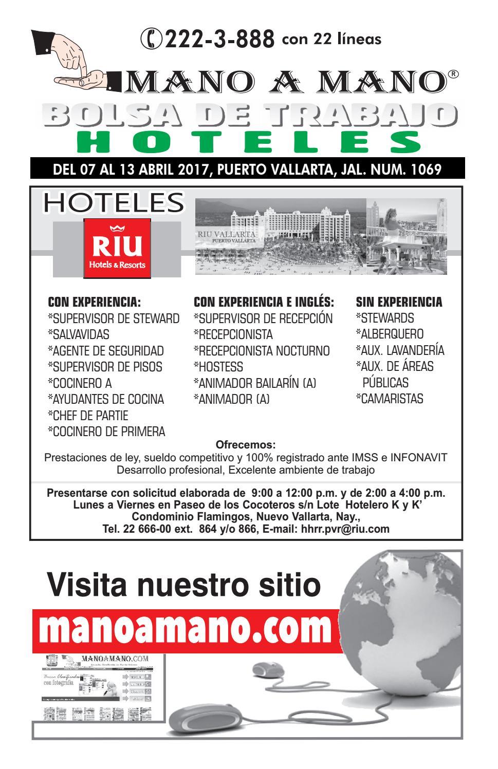 Bolsa trabajo hoteles 1069 by MANO A MANO - issuu