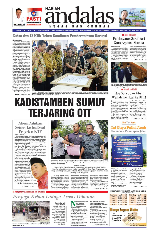 Epaper Andalas Edisi Jumat 7 April 2017 By Media Issuu Kompresor Volvo 960 Tancap Sanden