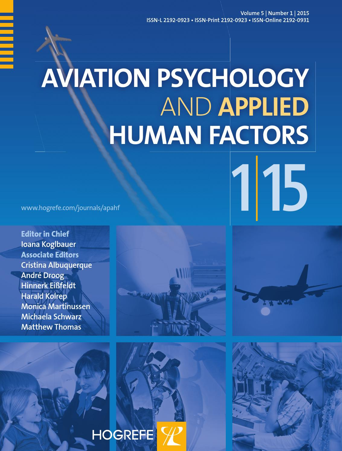 human factors psychology 1 Integrating human behavior with engineering and technology is the core of grand canyon university's master of science in psychology with an emphasis in human factors psychology.
