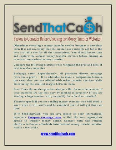 Factors To Consider Before Choosing The Money Transfer Websites