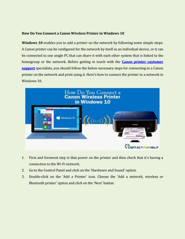 Canon printer with window 10 by contactforhelp - issuu