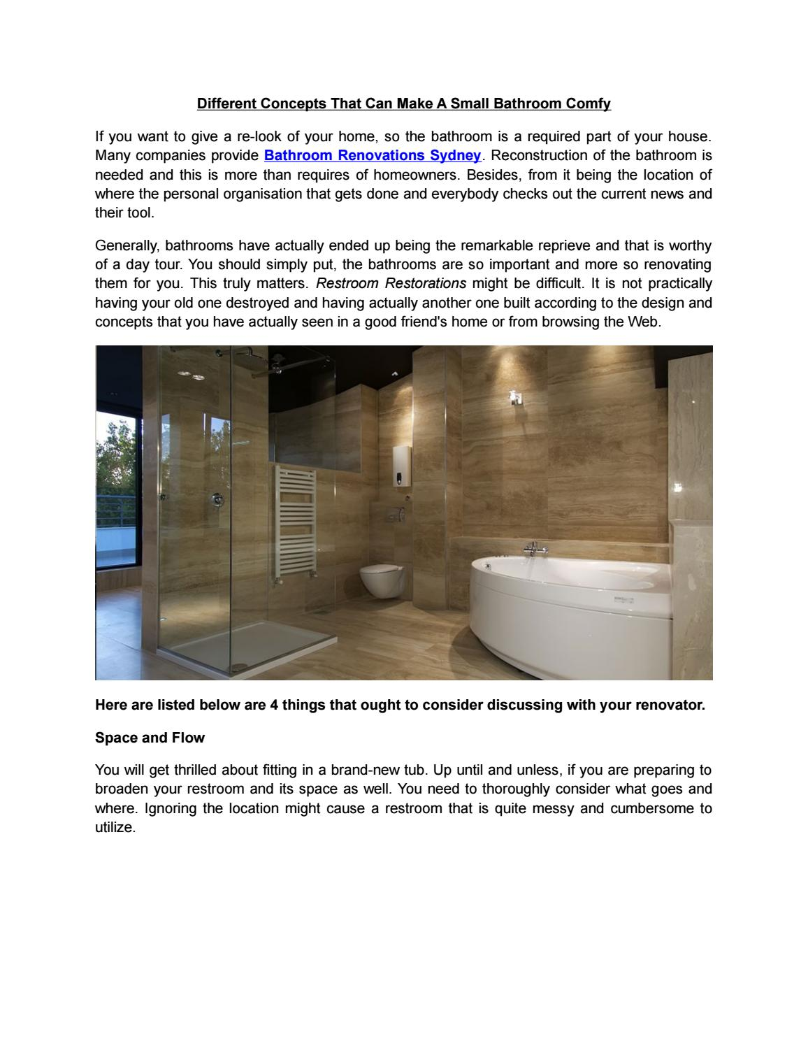 Different Concepts That Can Make A Small Bathroom Comfy By Itn