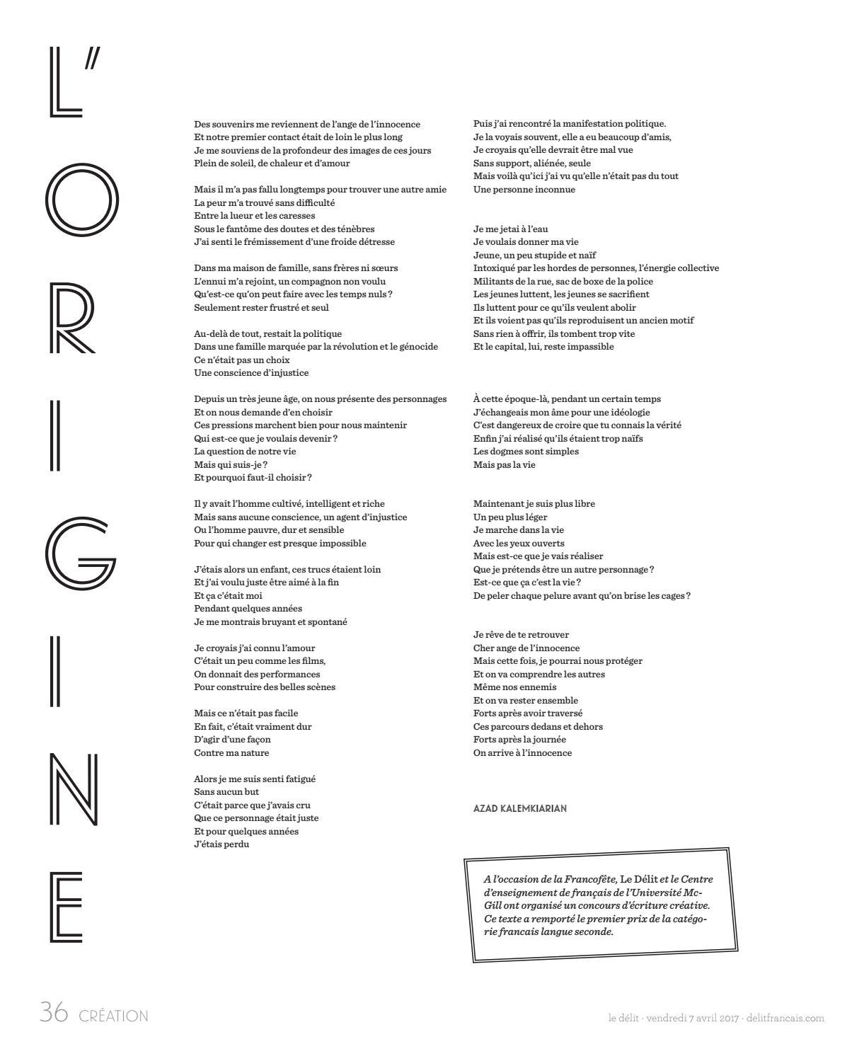 Cahier De Création Du 4 Avril 2017 By Le Délit Français Issuu