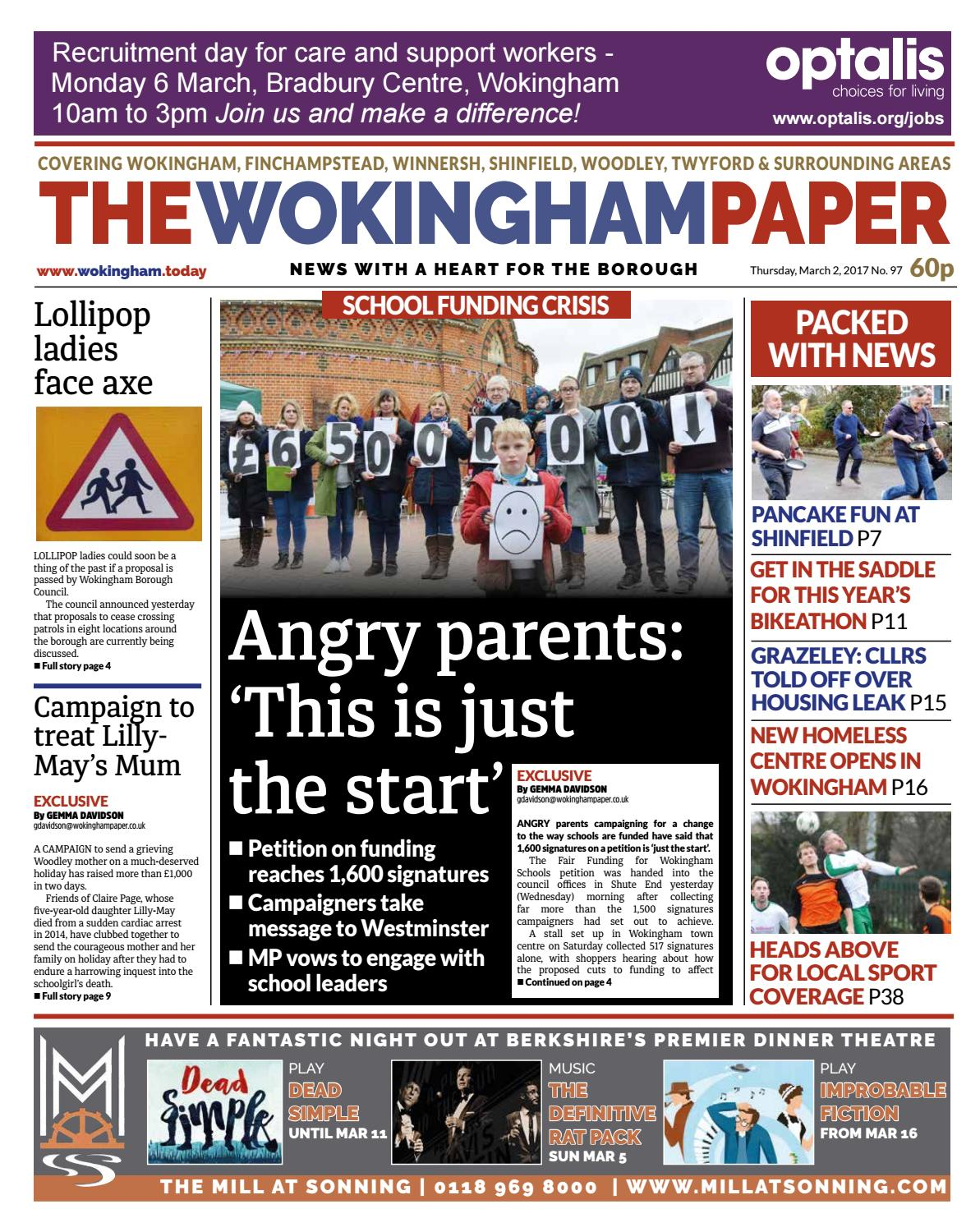 The Wokingham Paper March 2 2017 By Issuu Terry Palmer Premium Towel Bath Ampamp Travel 500g Set2tp1001 Set Of Light Blue