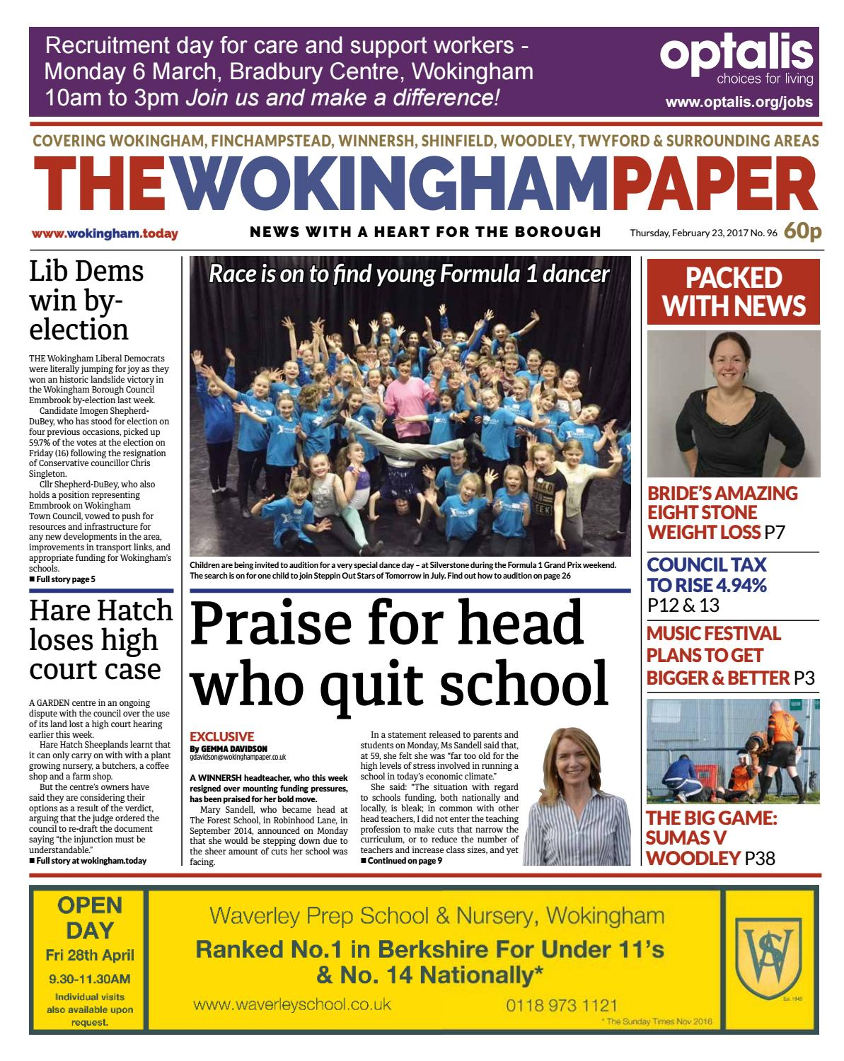 check out 09038 5173d The Wokingham Paper February 23, 2017 by The Wokingham Paper - issuu