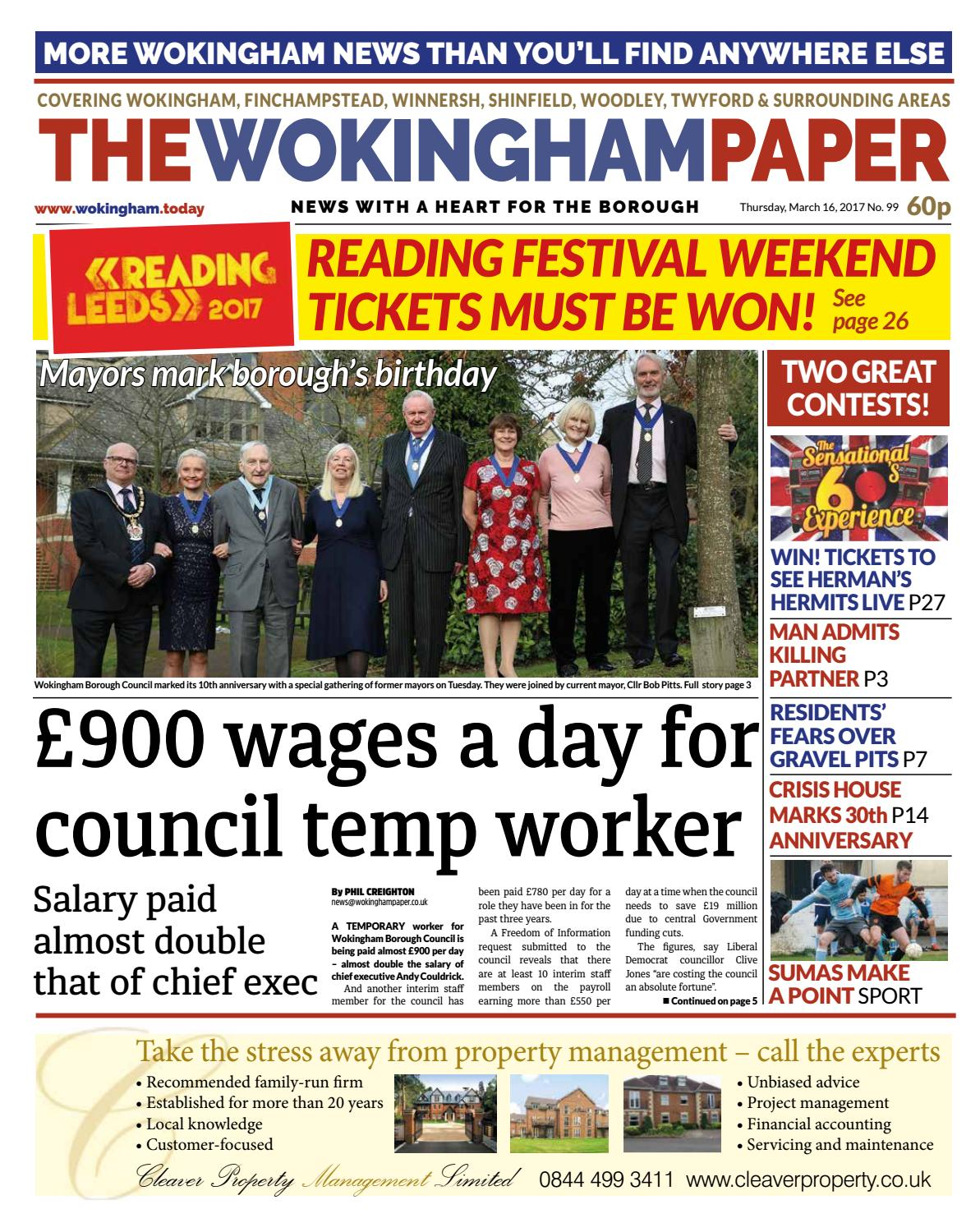 The Wokingham Paper March 16, 2017 by The Wokingham Paper